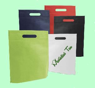 Reklaminiai neaustiniai maišeliai su užrašu ar logotipu