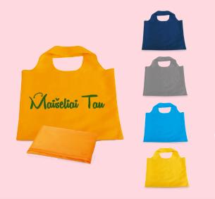 Reklaminiai poliesterio maišeliai su užrašu